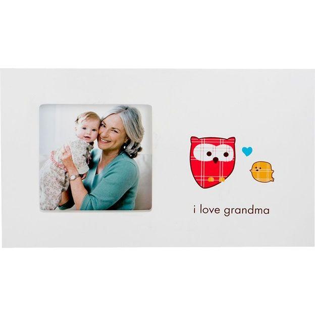 Cadre photo bébé I love grandma