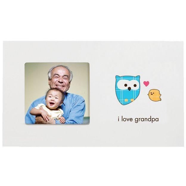 Cadre photo bébé I love grandpa