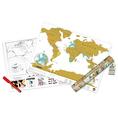 Carte du monde Scratch édition de voyage
