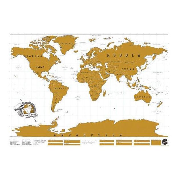 Scratch Weltkarte zum Rubbeln