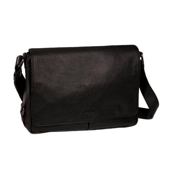 0714 Überschlagtasche DIN A4 quer schwarz