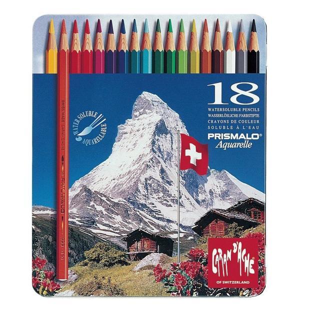 Caran d'Ache Prismalo crayons aquarelle 18 pcs