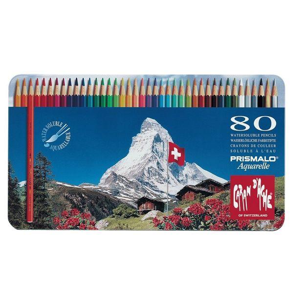 Caran d'Ache Prismalo crayons aquarelle 80 pcs