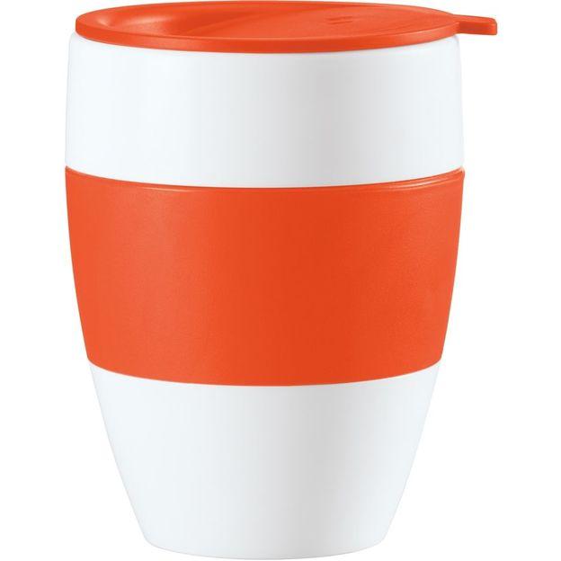 Gobelet isotherme avec couvercle AROMA TO GO orange opaque de Koziol