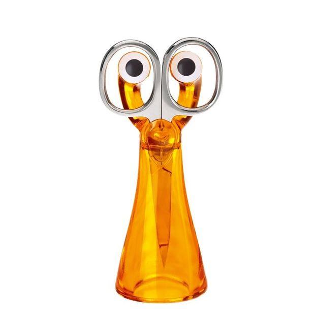 Ciseaux avec support MINI-EDWARD orange transp. de Koziol