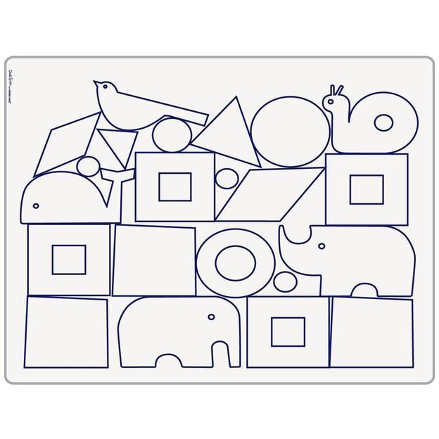 Tischset  Animal Blocks mit 6 Stiften