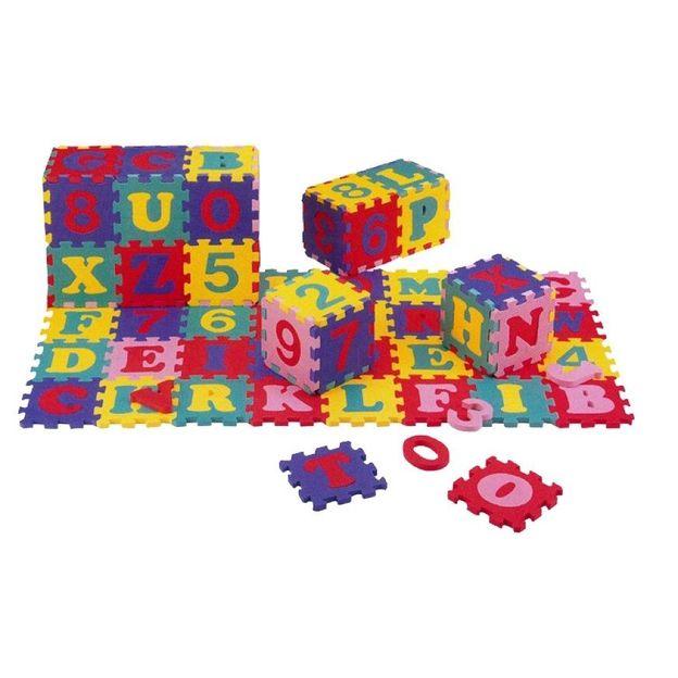 Matelas puzzle avec lettres et chiffres