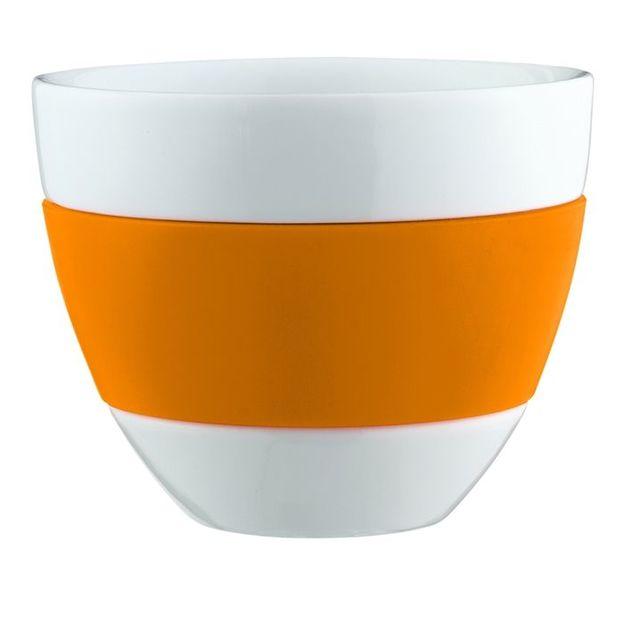 Tasse à Café au Lait AROMA orange opaque von Koziol