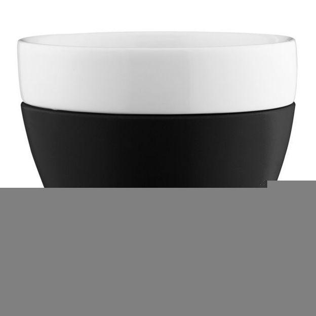 Tasse à Café au Lait AROMA noir opaque von Koziol