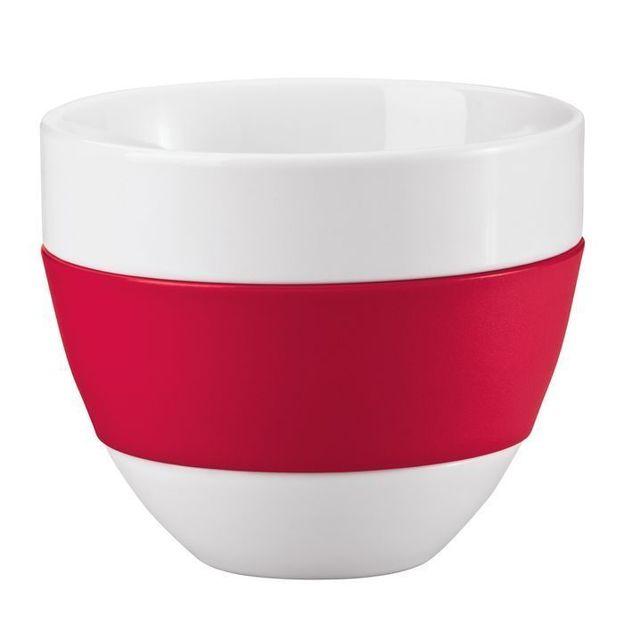 Tasse à Café au Lait AROMA rouge framboise opaque von Koziol