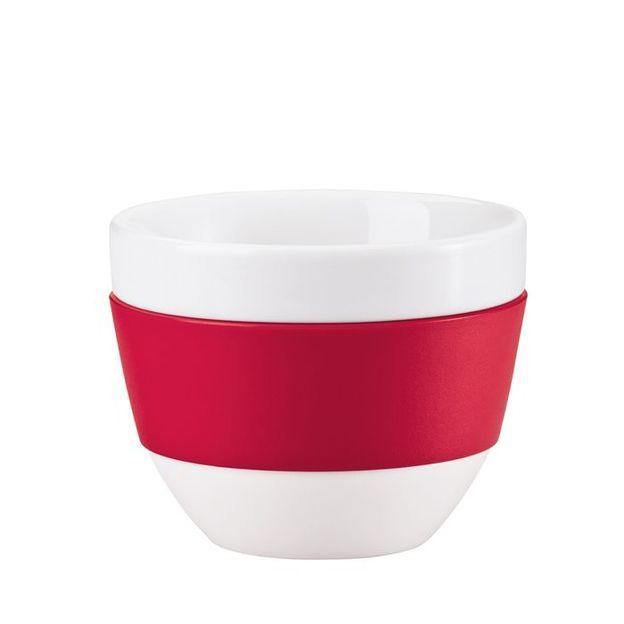 Cappuccino-Tasse Aroma himbeer rot von Koziol