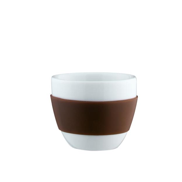 Espresso-Tasse Aroma braun von Koziol