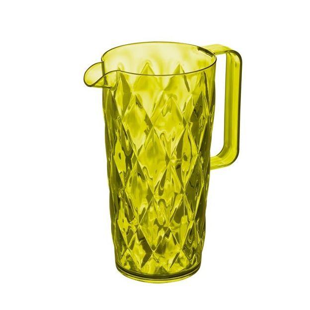 Kanne 1,6l Crystal olivgrün von Koziol