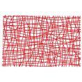 Set de table SILK rouge transp. de Koziol