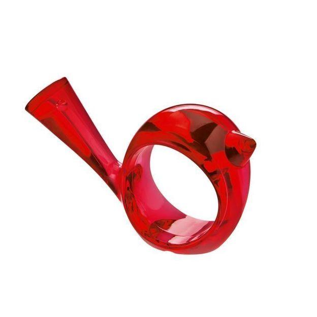 Rond de serviette pi:p rouge transp. de Koziol