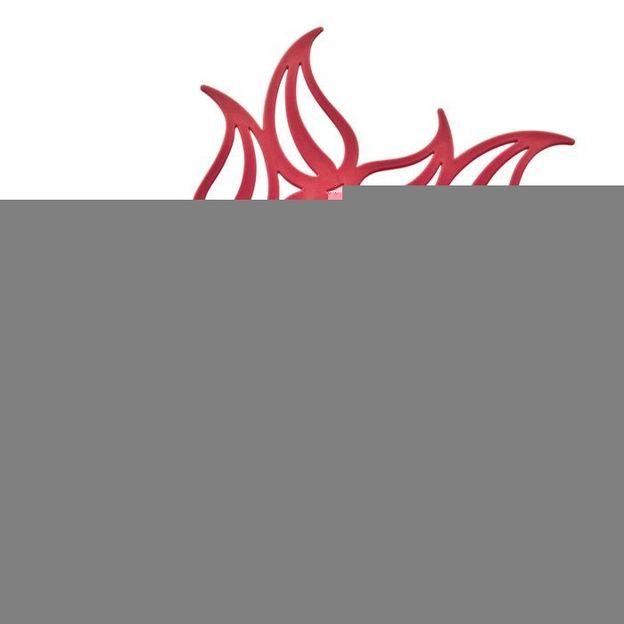 Topfuntersetzer Flame himbeer rot von Koziol