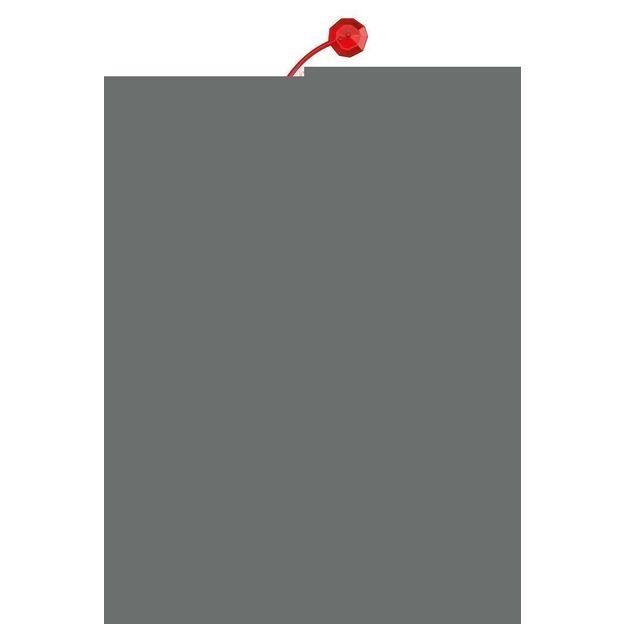 Elément décoratif ANTOINETTE B1 rouge transp. von Koziol