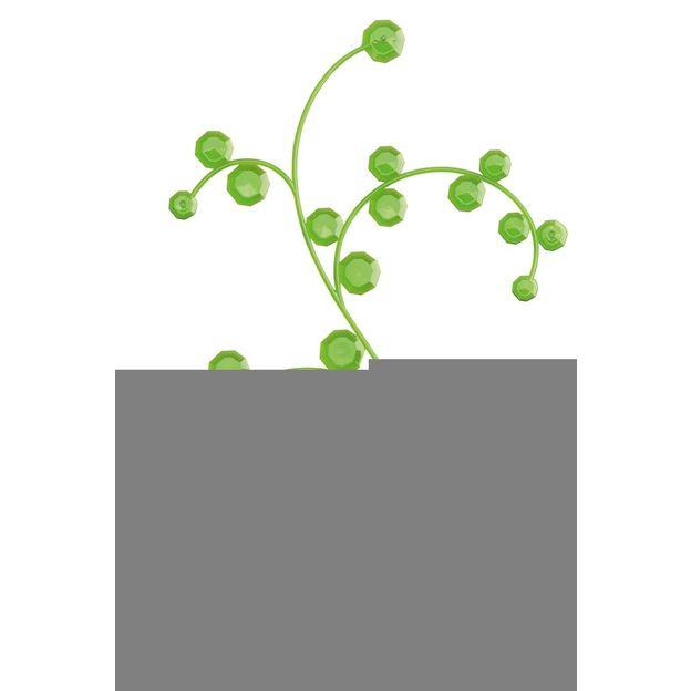 Elément décoratif ANTOINETTE B1 vert transp. von Koziol