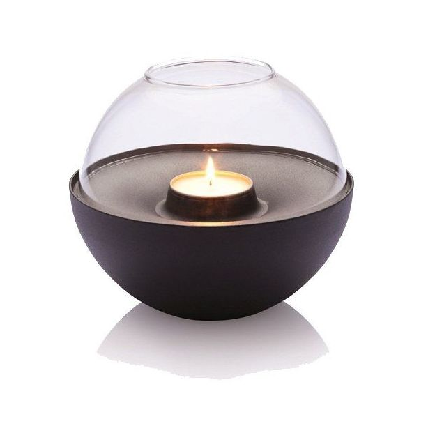 Vlam lampe bougeoir sphère