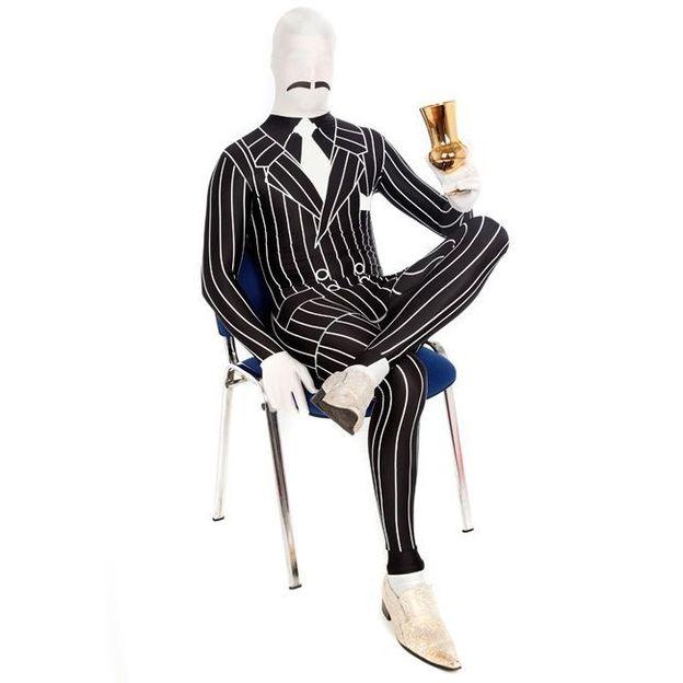 Morphsuit Gangster Kostüm Grösse XL