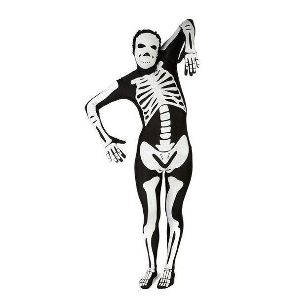 Morphsuit Skelett Kostüm, Grösse L