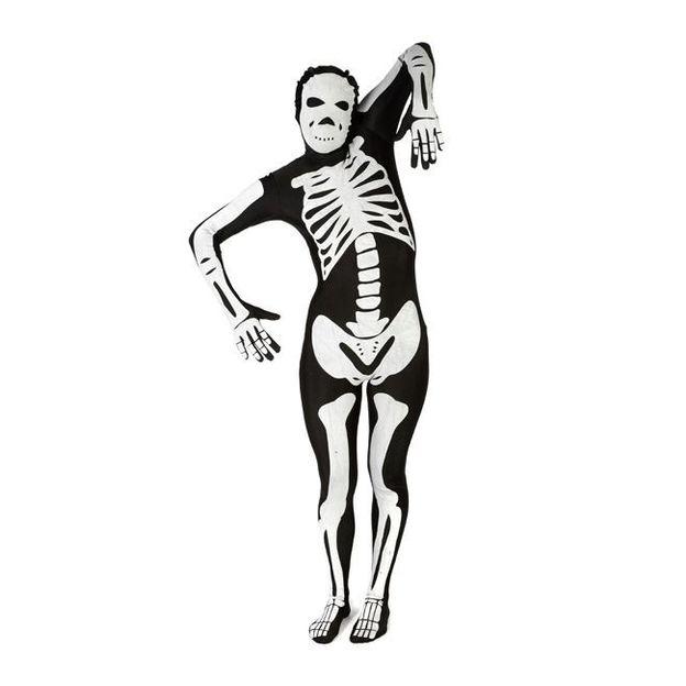Morphsuit Skelett Kostüm, Grösse XL