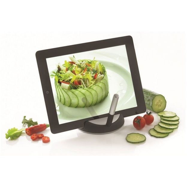 Support tablette chef avec stylet tactile for Tablette tactile cuisine