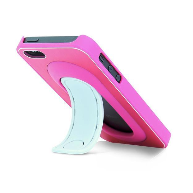 Click Stand iPhone 5/5S Schutzhülle pink