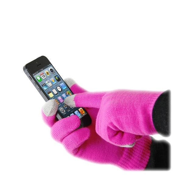 iGlove les gants tactiles iPhone pink