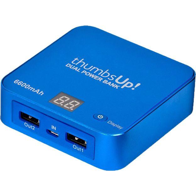 Notfallladegerät - Dual Power Bank blau