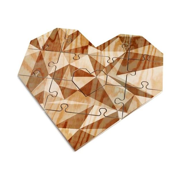 Herz-Puzzle mit persönlicher Nachricht