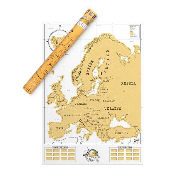 Scratch Map Europakarte