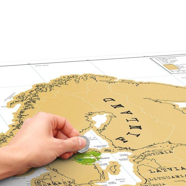 Carte d'Europe à gratter Scratch