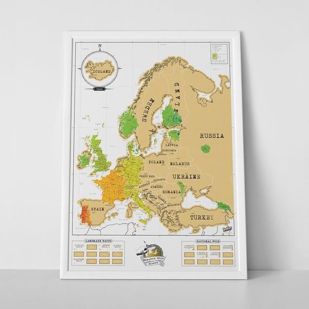 Scratch Map Europakarte