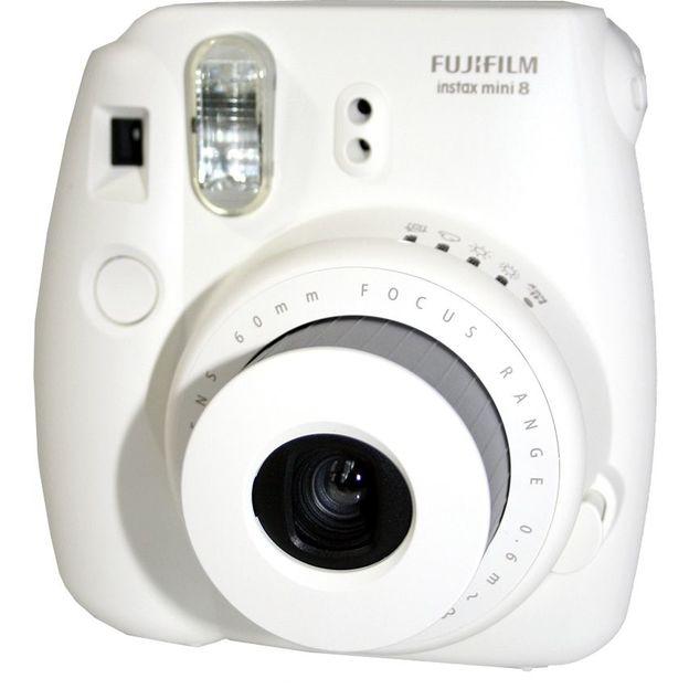Fujifilm Instax Mini 8 Sofortbildkamera Set weiss