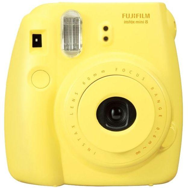 Fujifilm Instax Mini 8 Sofortbildkamera Set gelb