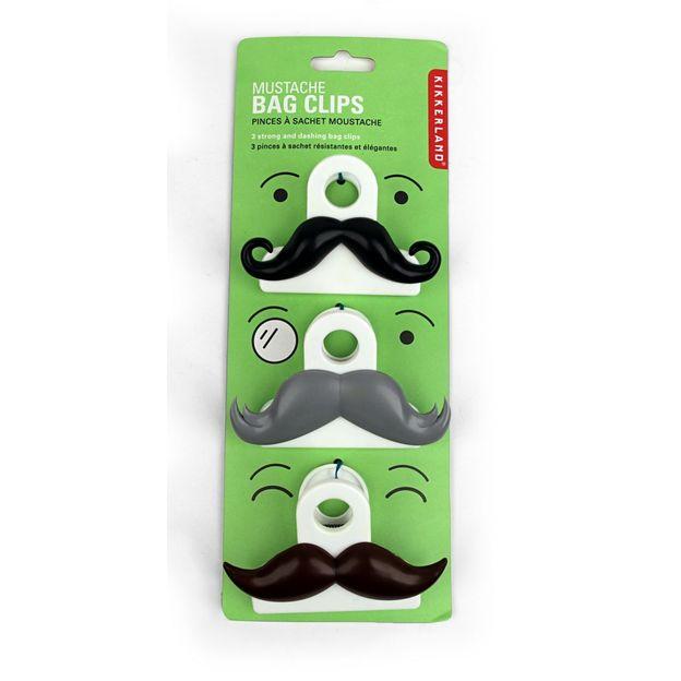 Moustache Klammern 3er Set