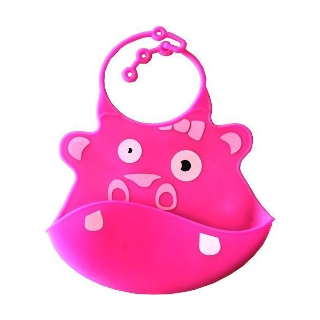 Bavoir  en silicone Hippopotame