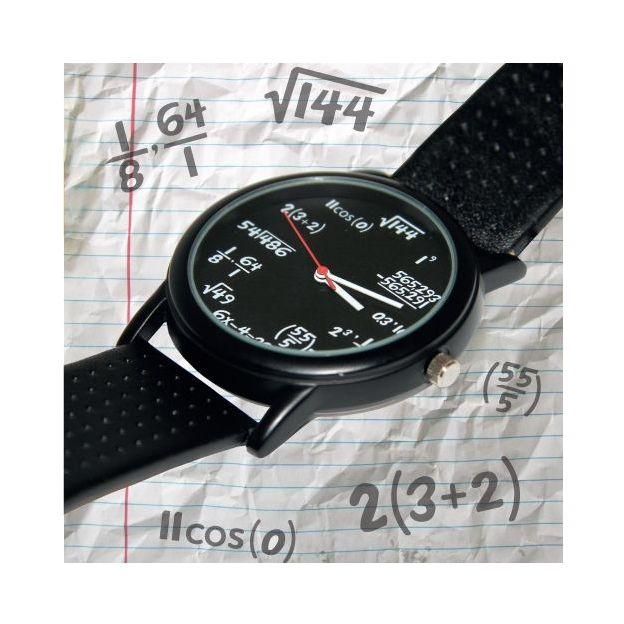 Montre à formules mathématiques
