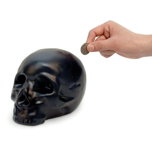 Spardose Totenkopf