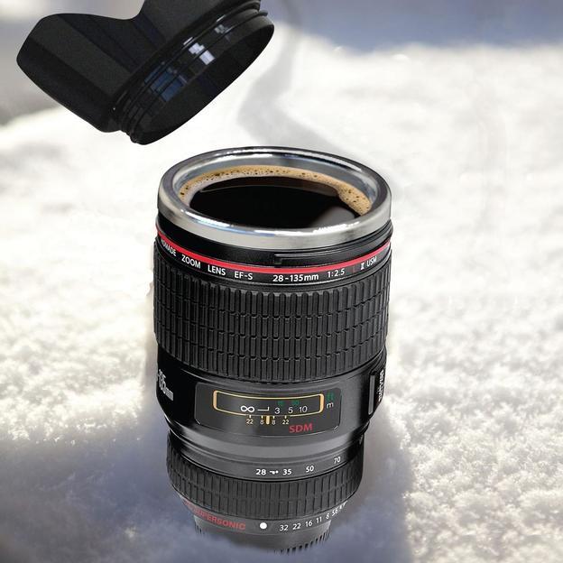 Mug isotherme Objectif de caméra