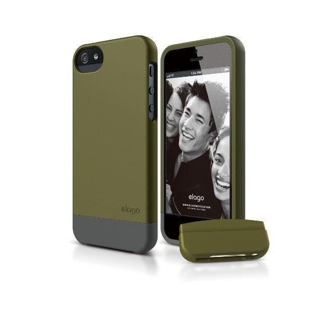 Elago S5 iPhone 5/5S Schutzhülle olivgrün