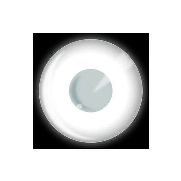 Lentilles fantaisie UV blanches