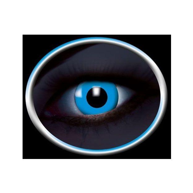 Lentilles de contact UV bleues