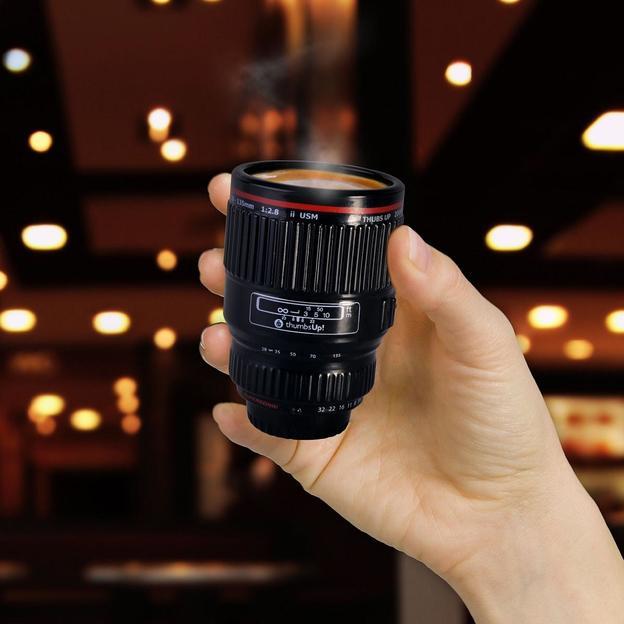 Set de 3 tasses espresso Objectif de camera