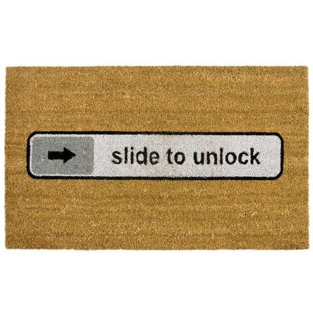Fussmatte Slide to unlock