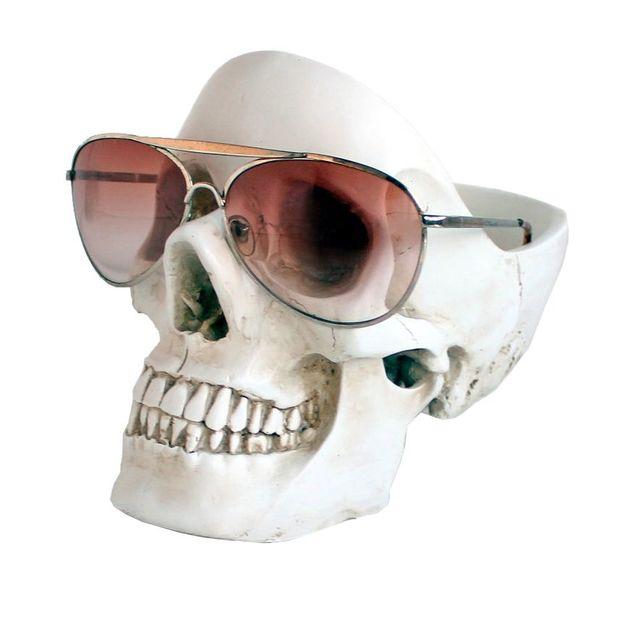 Vide-poche tête de mort blanc