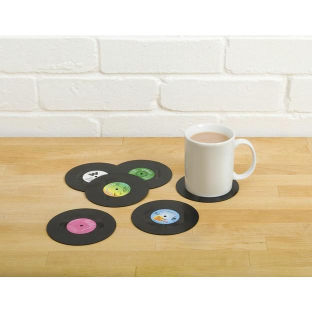 Schallplatten Untersetzer 6er Set