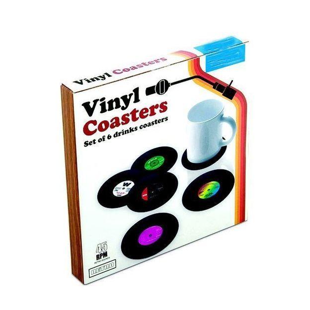 Schallplatten Vinyl Untersetzer 6er Set