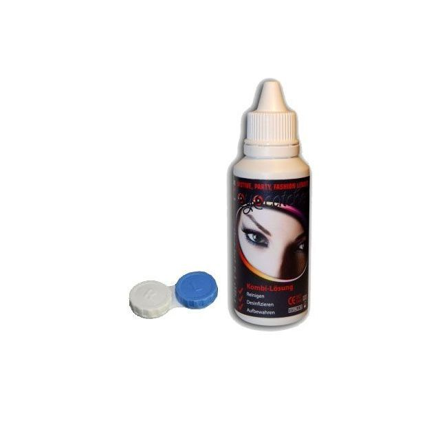 Kontaktlinsen Reinigungsflüssigkeit inkl. Aufbewahrungsbox 50ml